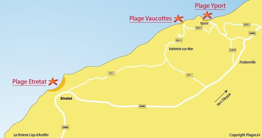 Plage Etretat Etretat 76 Seine Maritime Normandie