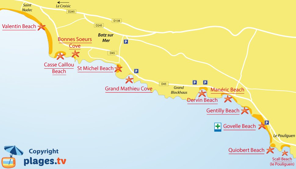 Beaches In Batz Sur Mer France 44 Seaside Resort Of