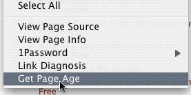 Get Page Age Screenshot