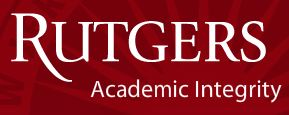 Rutgers Academic Integrity