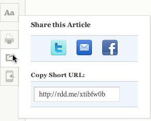 Share w Readability