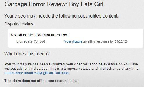 YouTube Dispute