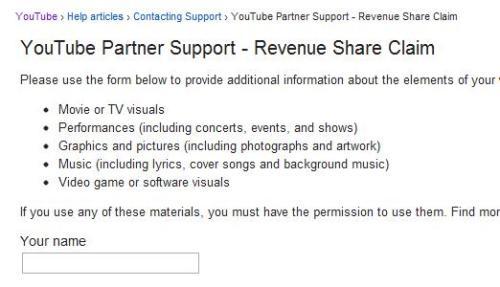YouTube Partner Support