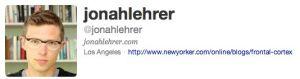 Jonah Lehrer Twitter