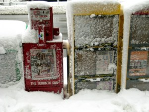 Frozen newspapers