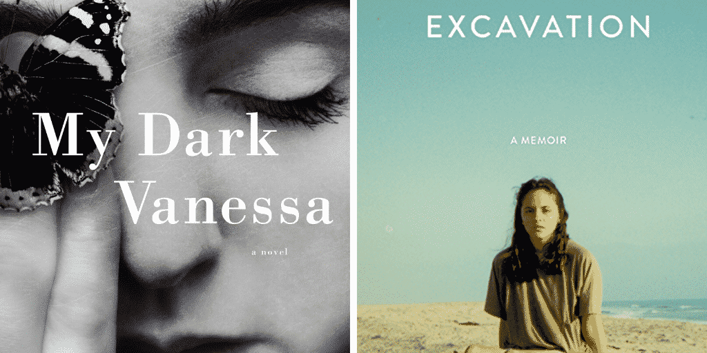 Comparison of My Dark Vanessa and Excavation Book Covers