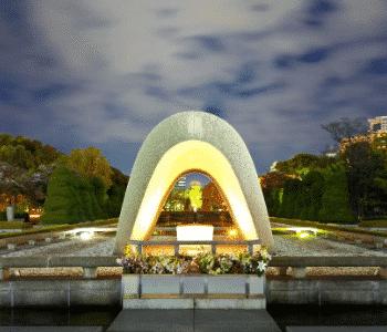 Two Atomic Bomb Memorials, One Speech Image