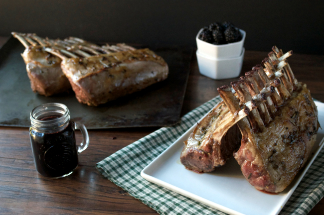 Roasted Lamb with Blackberry Balsamic Reduction | Plaid and Paleo