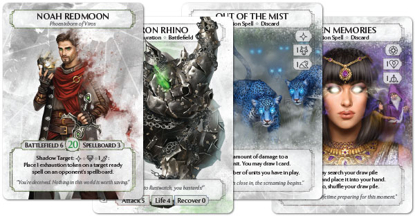 Ashes cards