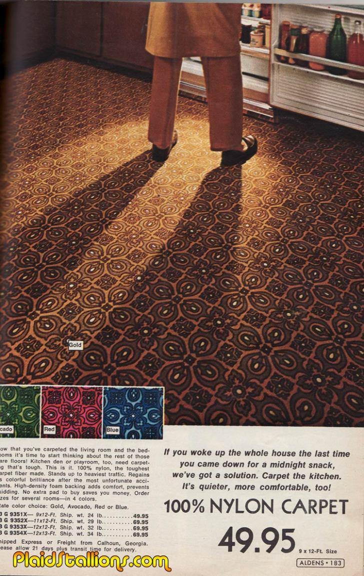 Rambling Reflections 70s Pop Culture Carpet Kitchen