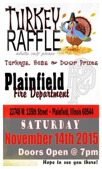 2015 turkey raffle flyer