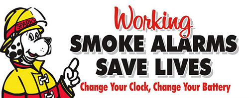 Don't forget to change the batteries in your smoke alarms!