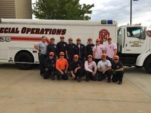 group photo of the combined area and rescue team