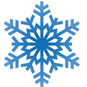 vector image of a snowflake