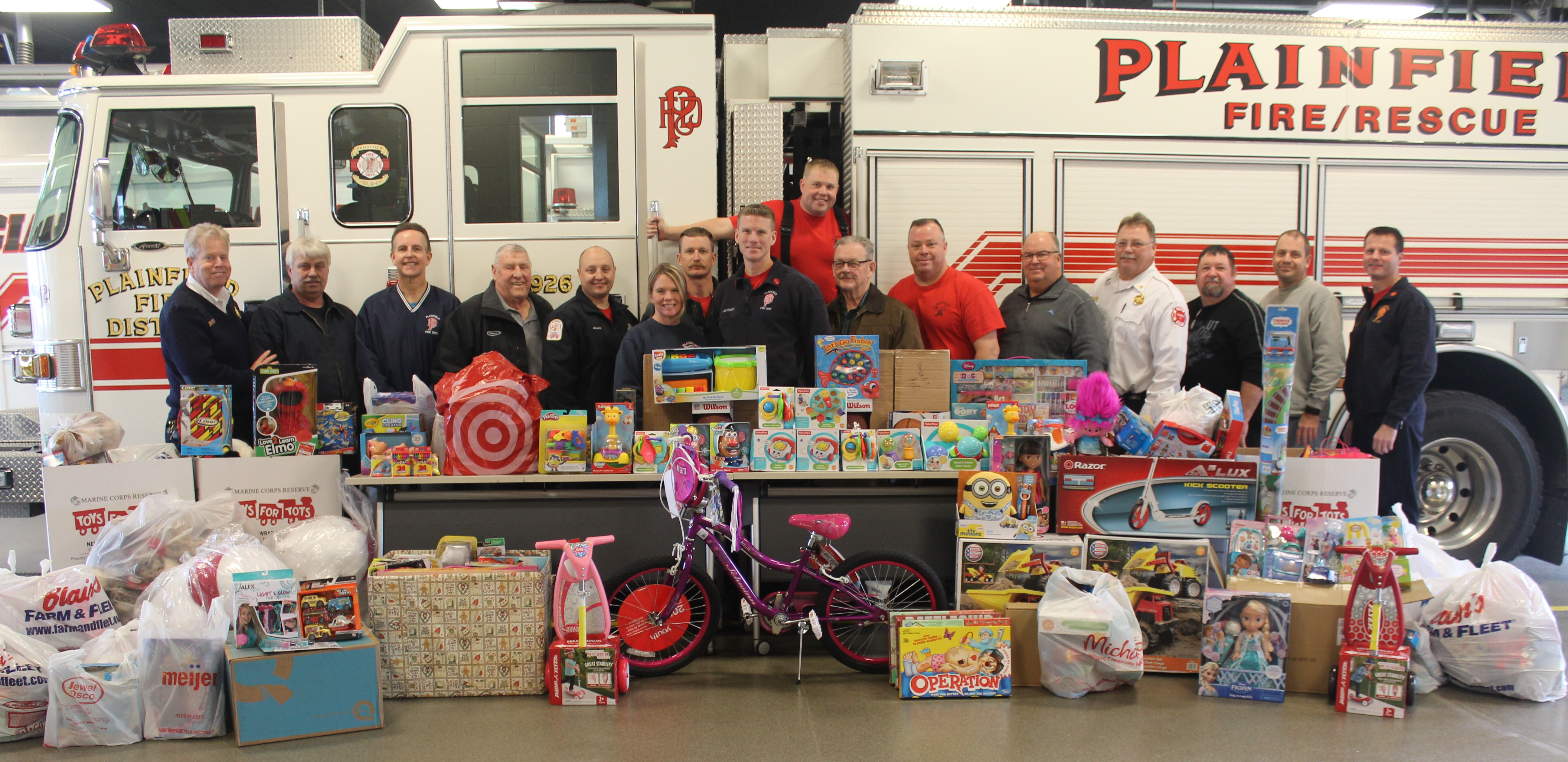 PFPD with donations