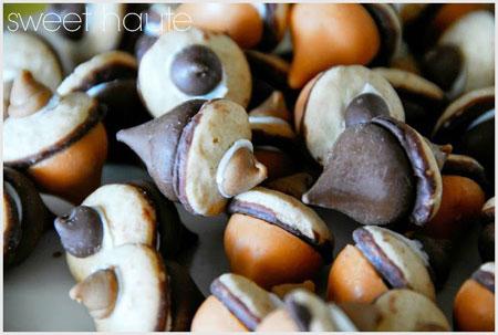 Acorn chocolate design