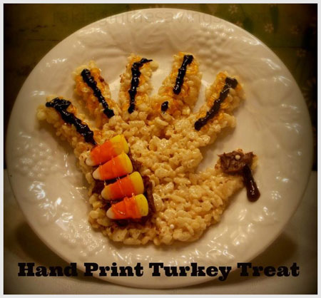 Turkey made of rice Krispies