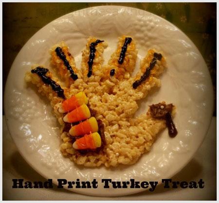 Turkey made of rice Krispies
