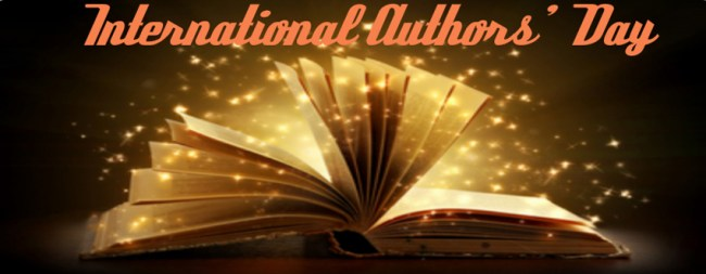 International author's day banner