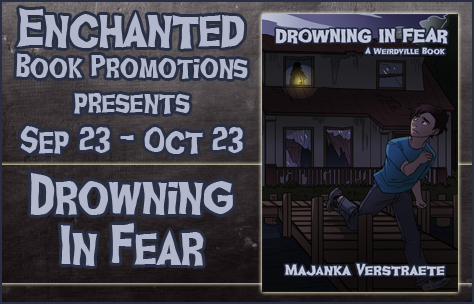 Book tour banner for Drowning in FEar