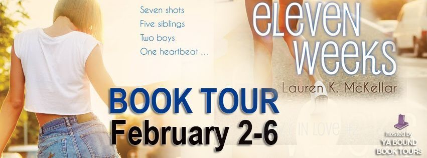 Book tour banner for 11 weelks