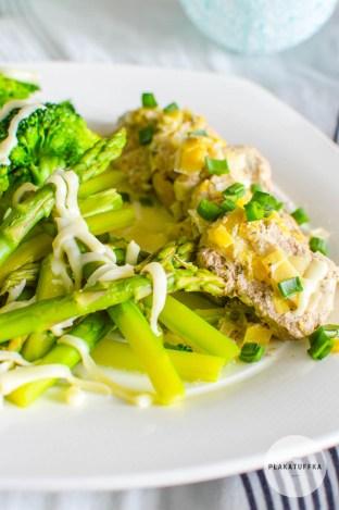 Polędwiczki wieprzowe w sosie porowym z zielonymi warzywami (6)