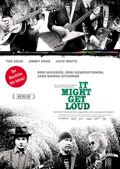 Poster zu It Might Get Loud - via filmposter-archiv.de