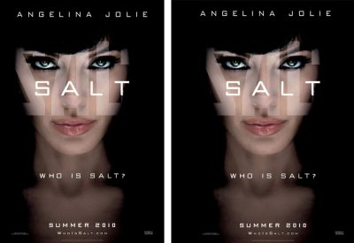 "Movie Poster ""Salt"" - original and centered"