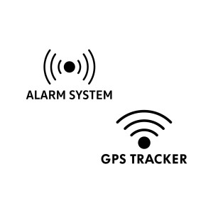 GPS en Alarm stickers