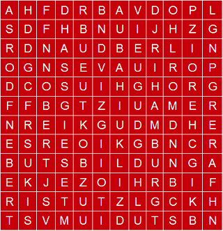 Fehlt die Stadt Hamburg, Berlin, Stuttgart, oder Bonn im Buchstabensalat?