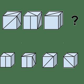Welcher Würfel passt zur Abbildung oben? (Würfel Nr.9)