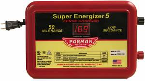The ultra-powerful Parmak Super Energizer 5 fence charger.