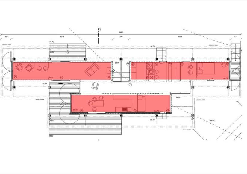 Plan maison container