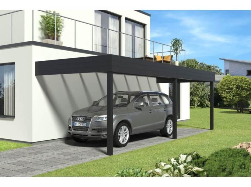 Carport adossé alumunium