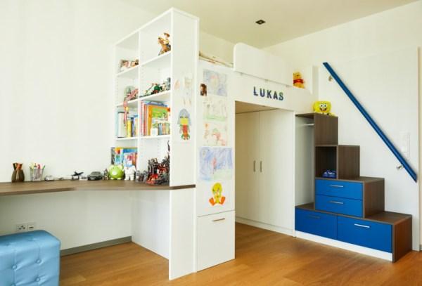 Kinderzimmer mit Alkovenbett