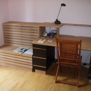 plan de travail classique bureau bois classique