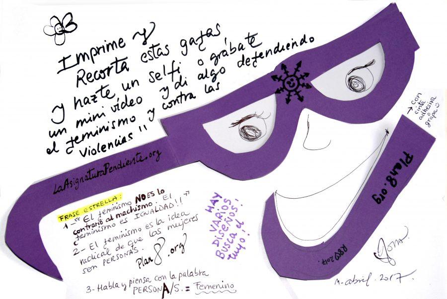 plantillas gafas violetas