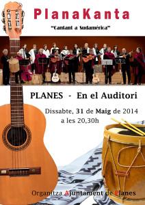 Cartel actuación Planakanta en Planes