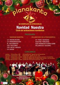 Cartel actuaciones Navidad 2015