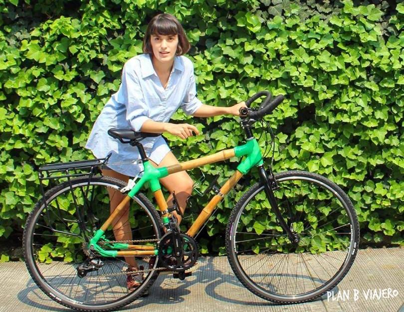 plan b viajero, gabriela de marcos, viaje en bicis de bambu, hacer una bici de bambu, bamboocycles