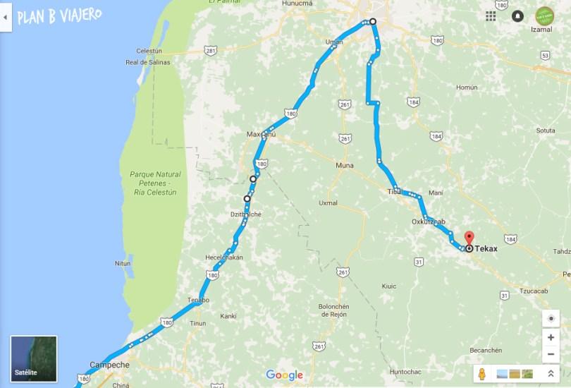 plan b viajero , Península de Yucatán en bicicleta