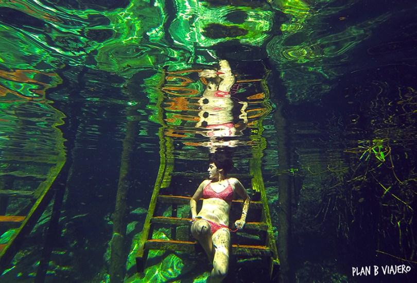 plan b viajero , cenote xcacel xcacelito , tulum , gabriela de marcos