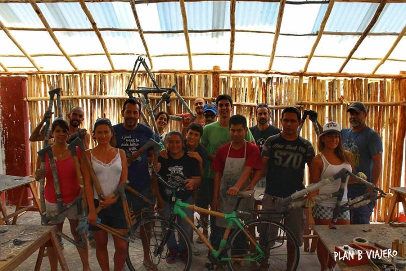 plan b viajero, taller de bicis de bambu en tulum , htm bamboocycles