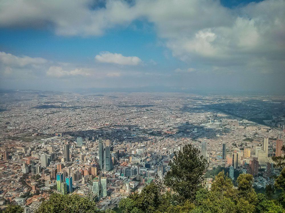 Bogota von ganz oben bedrachtet