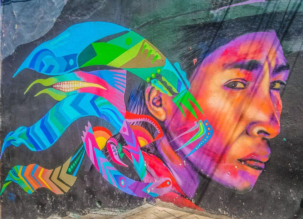 Faszinierende Graffitis findet man in ganz Bogota, Kolumbien