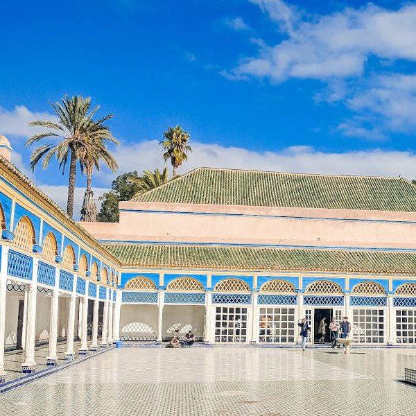 Eine schöne Gartenanlage in Marrakesch