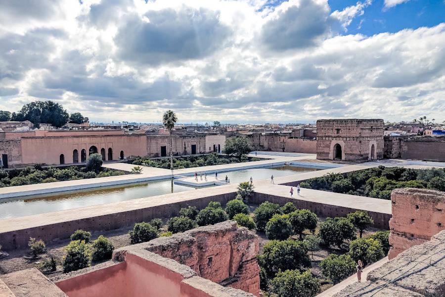 Eine der schönsten und größten Templanlagen in Marrakesch