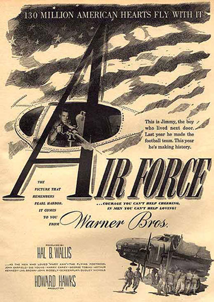 Air Force original movie poster from 1943