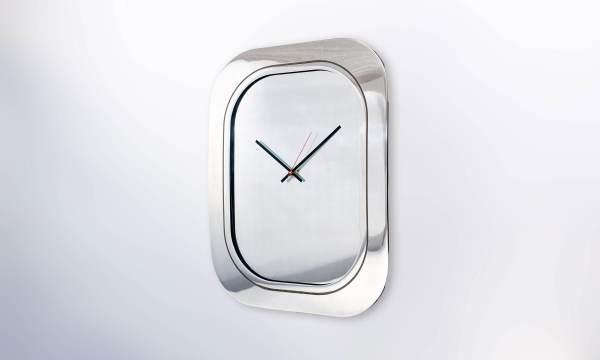 Boeing 747 Window Clock Aluminium Polished