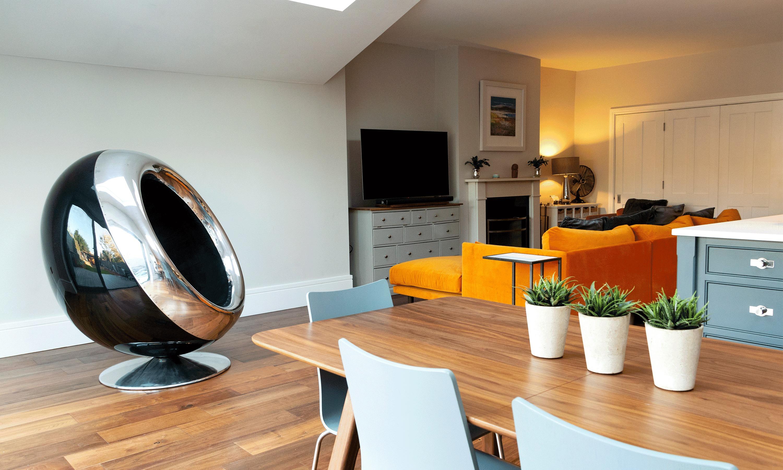 BAe 146 Cowling Chair Orange Sofa